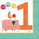 mayorista Articulos de fiesta: Barnyard, Pata Farm 1 servilleta con 16 piezas 32.