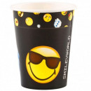 Emoji paper cup with 8 pcs 250 ml