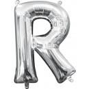 Mini R Letter Foil Balloons, 33 cm Silver