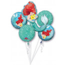 DisneyPrincess , Princesses Foil Balloons Set of 5