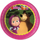 Masha and the Bear Paper Plate 8 x 23 cm