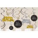 Happy Birthday Ribbon decoration set of 12