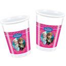 Disney frozen , surgelati tazze di plastica 8 pezz