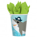 Ahoy Birthday paper cup with 8 pcs 250 ml