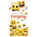 Emoji bed linen cover 140 × 200 cm, 70 × 90 cm