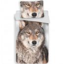 Wolf, Leineneinlage aus Wolle 140 × 200cm, 70 × 90