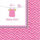 Baby Girl napkin with 16 pieces, 24.7 * 24.7 cm