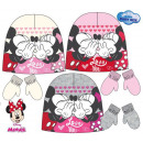 DisneyMinnie baby cap + gloves set