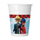 wholesale Drinking Glasses: Miracolous Ladybug plastic cup 8 pcs 200 ml