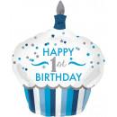 Großhandel Geschenkartikel & Papeterie: Happy Birthday 1 Folienballons 91 cm