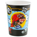 wholesale Party Items: Pirate, Pirate paper cup with 8 pcs 266 ml