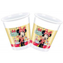 Disney Minnie bicchieri in plastica 8 pz 200 ml