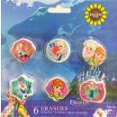 Eraser Set with 6 Pieces Disney frozen , Ice Magic