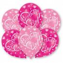 Happy Birthday Girl balloon with 6 balloons
