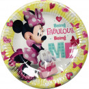 wholesale Party Items: DisneyMinnie Happy Paper plate 8 pcs 19.5 cm
