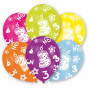 wholesale Gifts & Stationery: Happy Birthday 3 balloons, 6 balloons