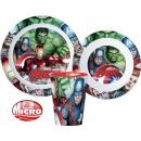 Avengers tableware, micro plastic set