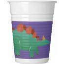 grossiste Verres: Dinosaur , Dinosaure tasse en plastique de 8 pièce