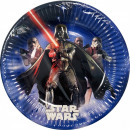 wholesale Party Items: Star Wars Lightsaber Paper plate 8 pcs 19.5 cm