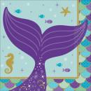 Mermaid, Mermaid napkin 16 pcs 25 * 25 cm