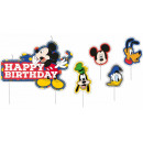 Disney Mickey cake candle, 5pcs candle set