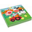 wholesale Gifts & Stationery:Farm napkin 20 pieces