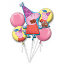 Peppa Pig Foil Balloons Set of 5