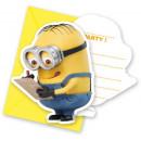 Lovely Minions , Minyonok Party Invitation 6pcs