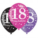 mayorista Regalos y papeleria: Happy Birthday 18 globos con 6 globos.