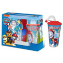 Sandwich Box + Suction Cup Set with Paw Patrol