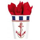 Anchors, Iron Cat paper cup 8 pcs 266 ml