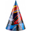 Blaze , Flame Party hat, 8 pcs