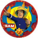 Fireman Sam , Sam Firefighter's Paper Plate is