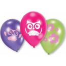 Uil, Uil ballonnen, ballonnen 6 stuks