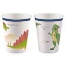 Dinosaur, Dinoszaurusz papír pohár 8 db-os 250 ml