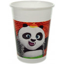 Kung Fu Panda Plastic cup 8 pieces 200 ml