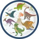 Dinosaur, Dinoszaurusz Papírtányér 8 db-os 18 cm