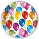 groothandel Stationery & Gifts: Ballon Paper Plate 10 stuks 19,5 cm