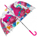 Kids Transparent Umbrella Trolls , Trolls Ø70 cm