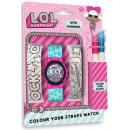 Digital wrist watch + colorable watch strap LOL