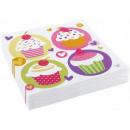 Cupcake, Muffin Serviette 20 PC
