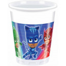 PJ Masks, Psycho Hero Plastic cup 8 pcs 200 ml
