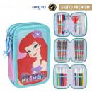 Disney Princess pen case filled with 3 decks