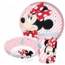 DisneyMinnie tableware, melamine set