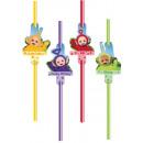 Teletubbies straw, 8 pcs set