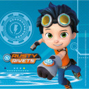 Rusty Rivets napkin with 16 pcs 33 * 33 cm