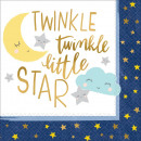 Twinkle , Twinkle , little star napkin with 16 pie