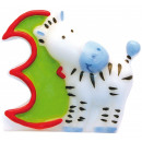 Safari cake candle, number candle 3