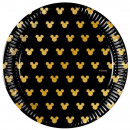 Disney Mickey Gold Paper Plate with 8 pcs 20 cm