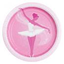 ingrosso Articoli da Regalo & Cartoleria: Balletto, Balletto Piatto di carta 8 pezzi 23 cm